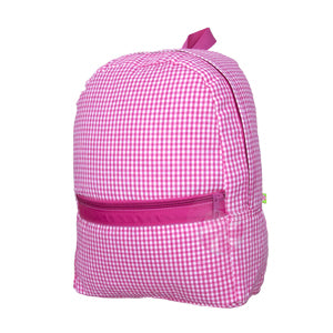 Hot Pink Gingham Small Backpack