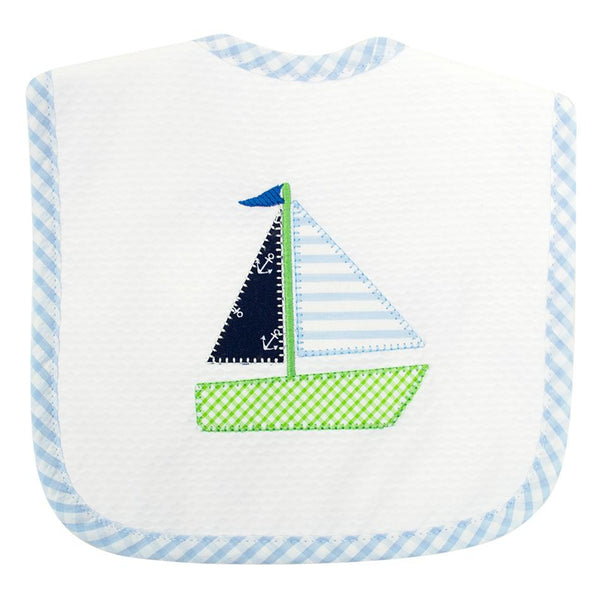 Sailboat Bib - Blue