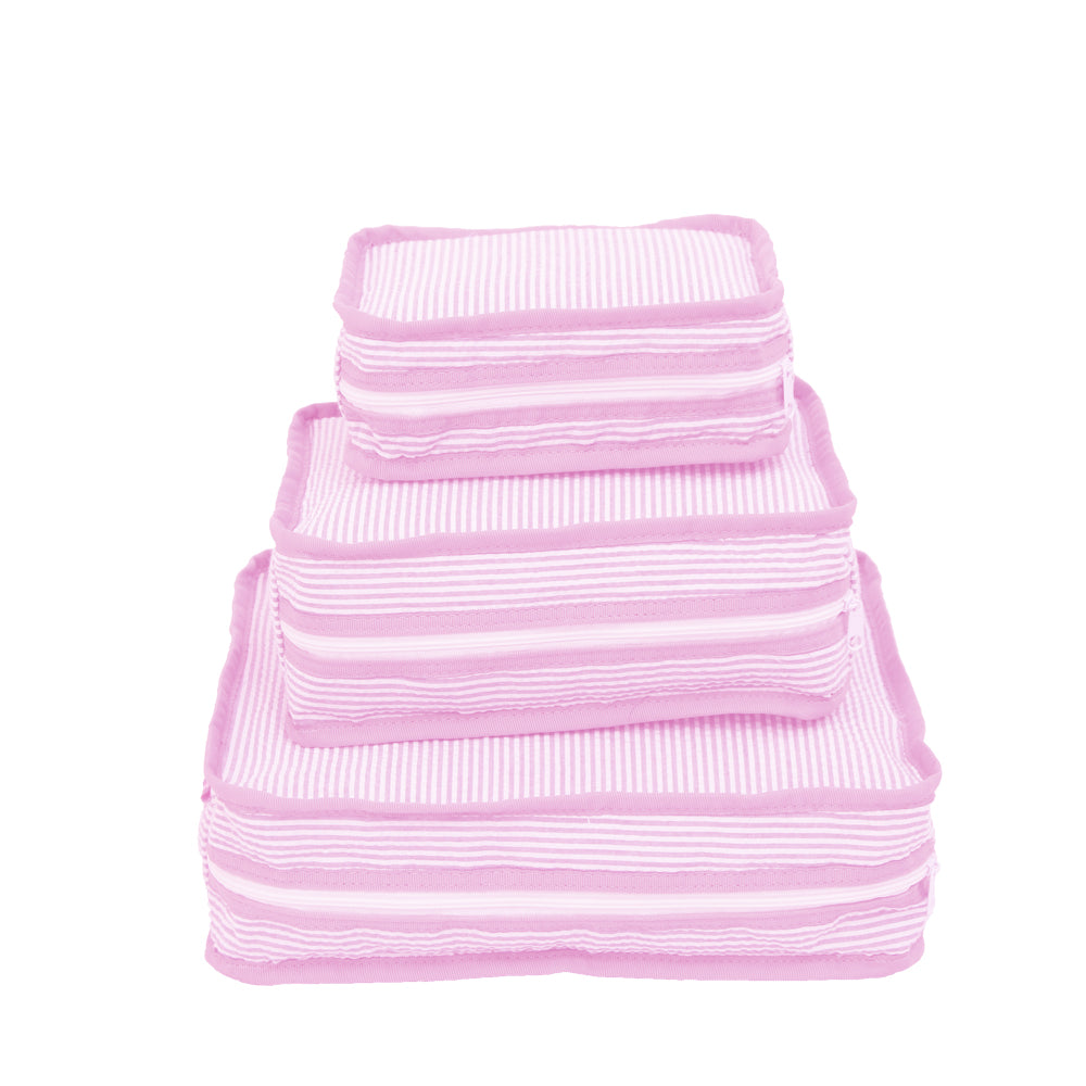Pink Seersucker Stacking Set