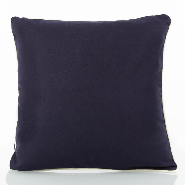 Baby Pillow Navy with Natural Trim