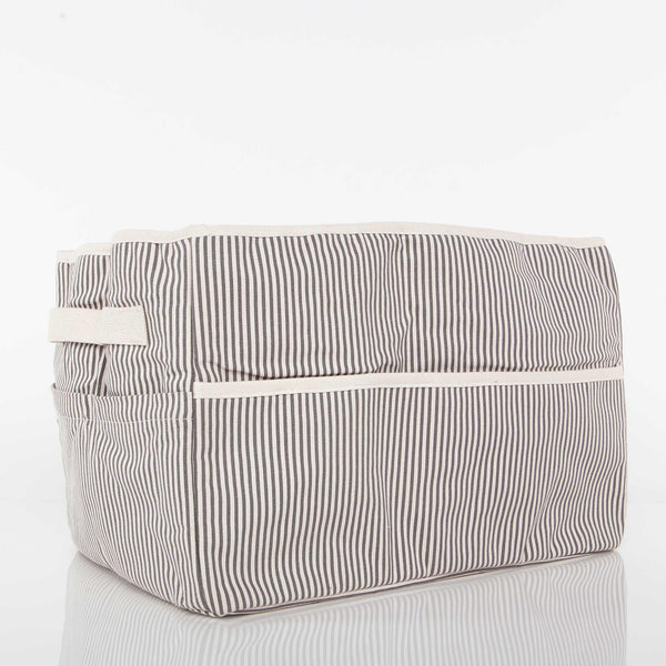 Toy Box, Nursery & Car Organiser Grey Stripe