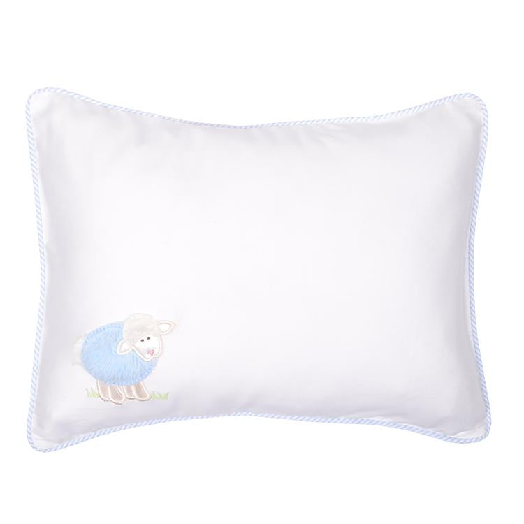 Lamb Decorative Baby Pillow - Blue