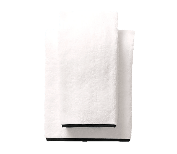 Black Piped Edge Towels