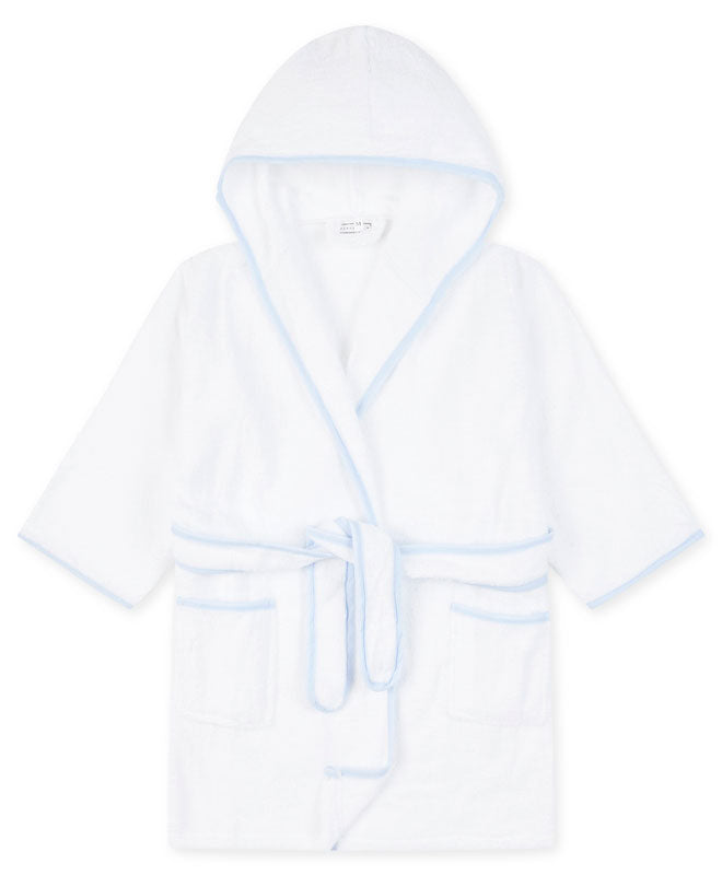 Piped Children's Robe - Blue