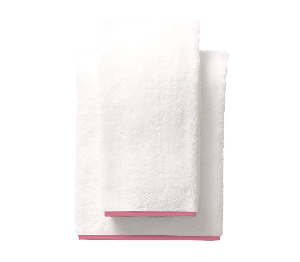 Bright Pink Piped Edge Towel