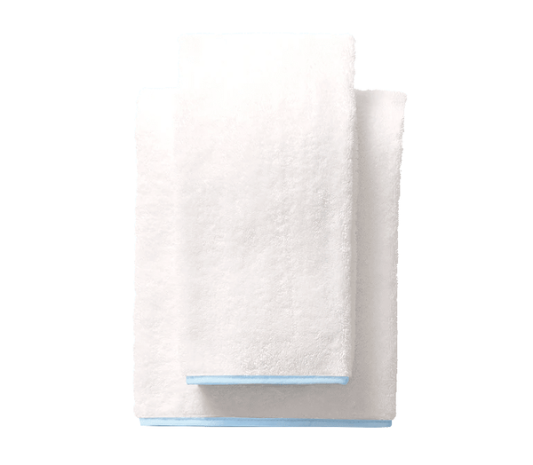 Pale Blue Piped Edge Towel