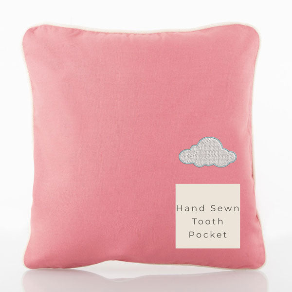 Tooth Pillow Pink with White Trim