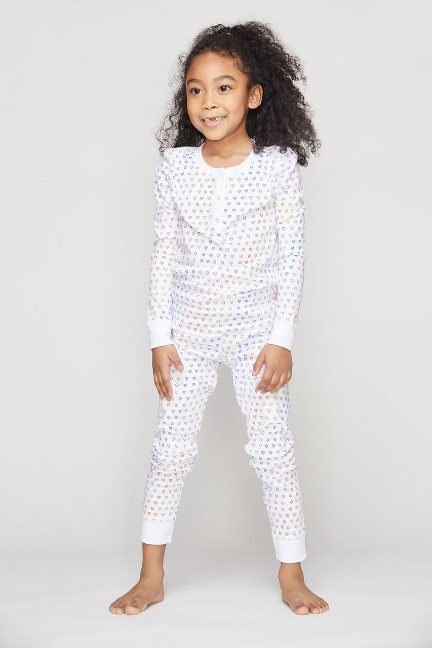 Rainbow Disco Heart PJ Set
