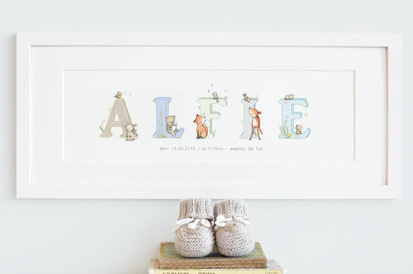 Woodland Name Painting
