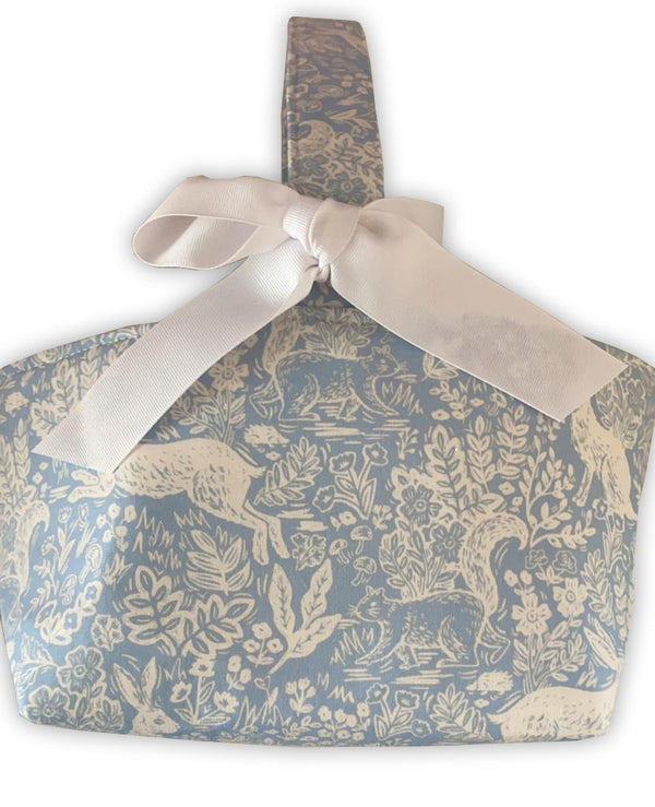 Bunny Toile Easter Basket