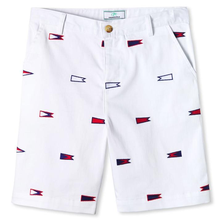 Hudson Short, Burgee Embroidered