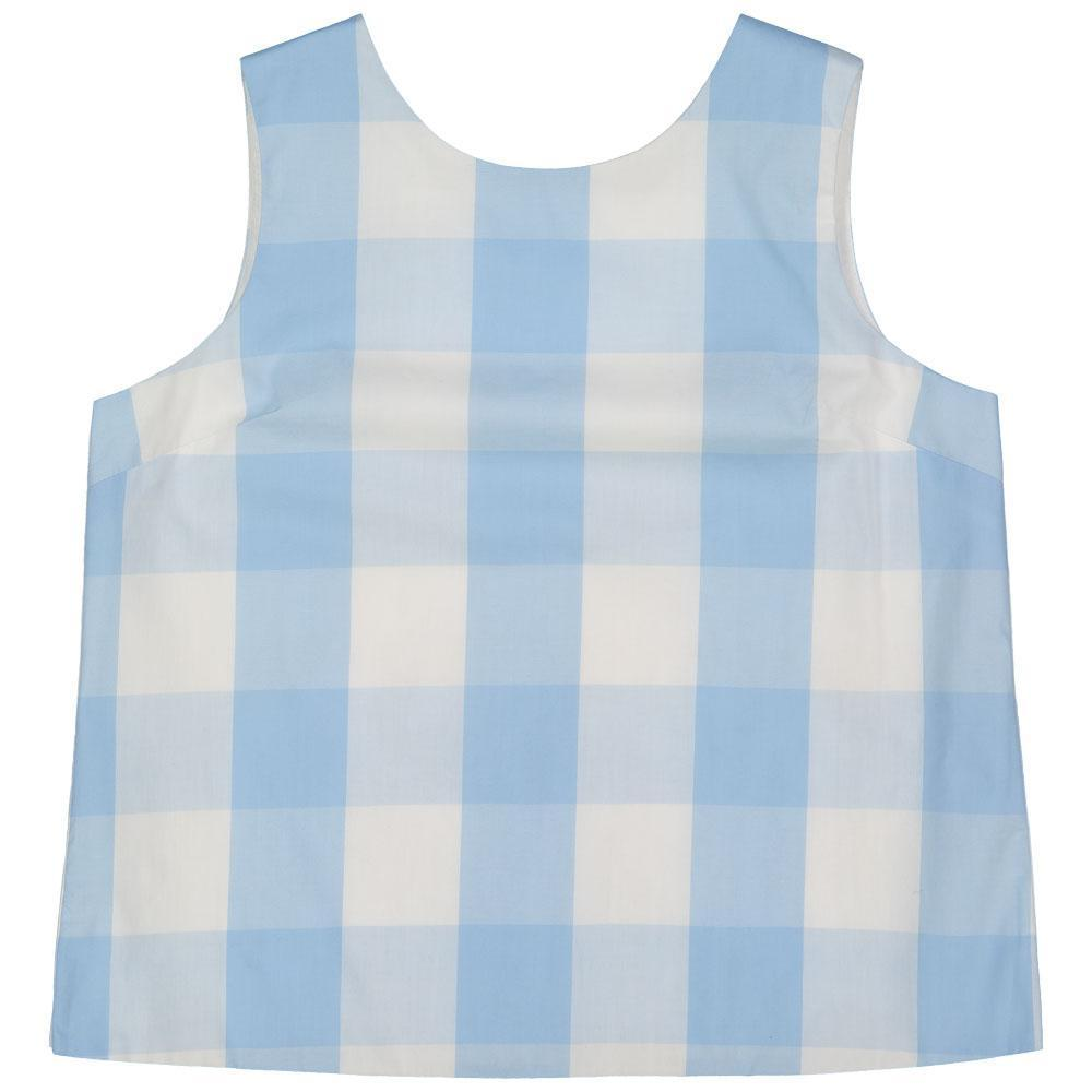 Kingsley Buttonback Top - Blue Check