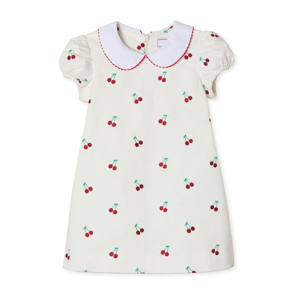 Paige Dress - Cannoli Cream With Cherries