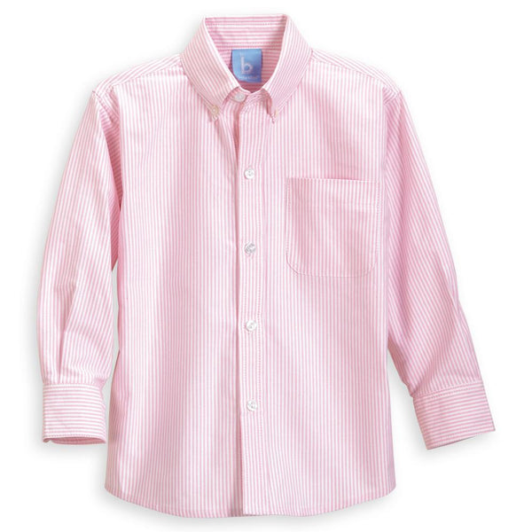 Pink Stripe Oxford Buttondown Shirt