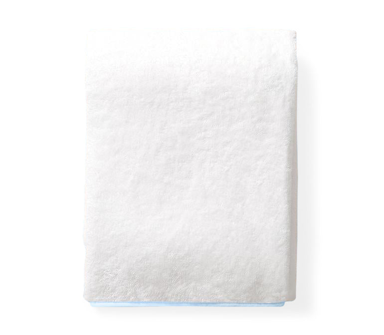 Pale Blue Piped Edge Towels