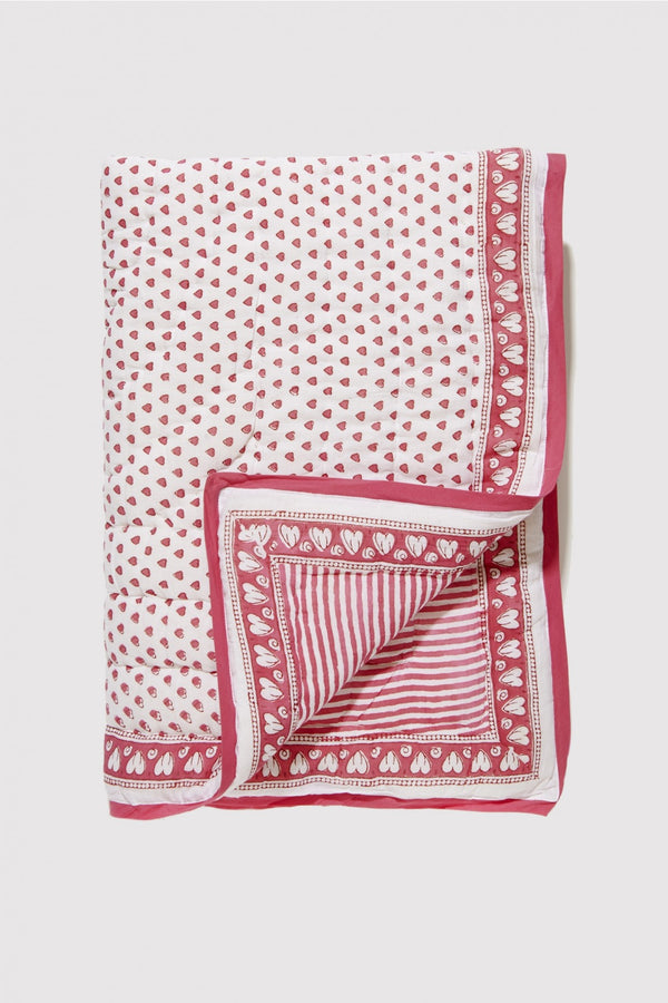 Baby Hearts Quilt - Pink