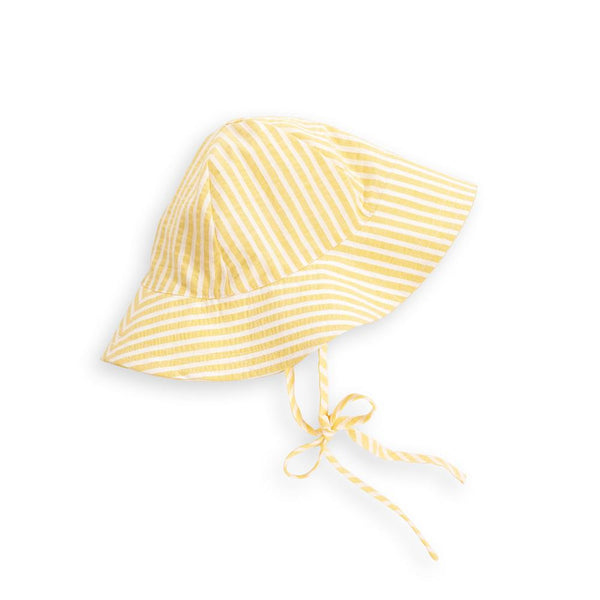 Spring Sun Hat - Yellow Candela Stripe