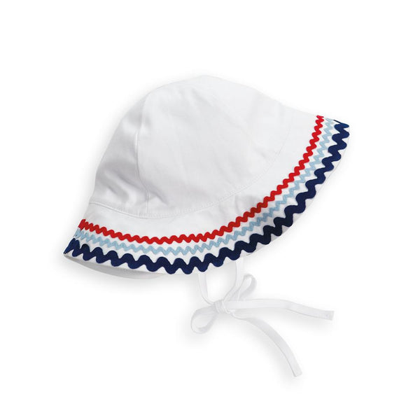 Sun Hat With White Twill Trim