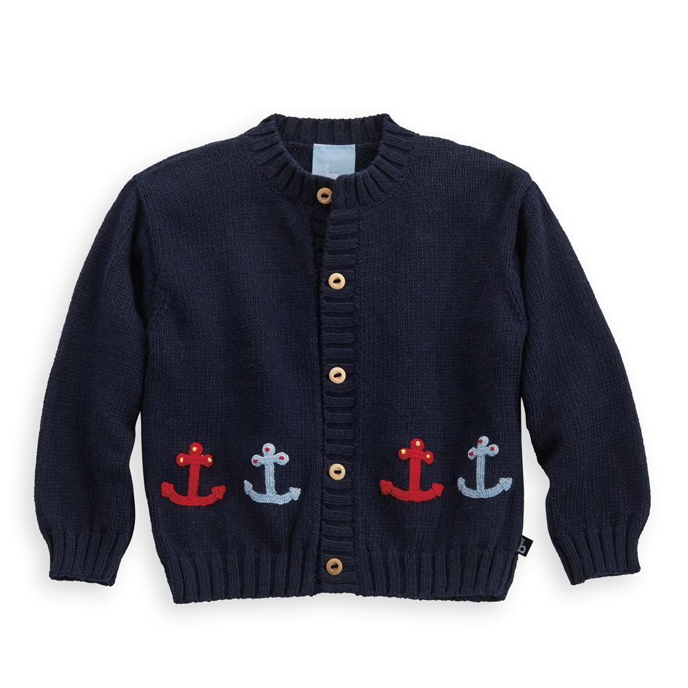 Applique Anchor Cardigan