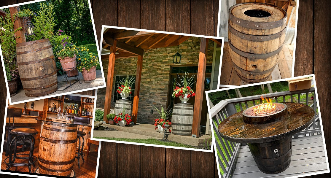 Whiskey Barrel Collage