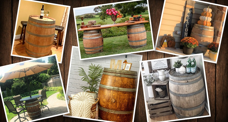 Wine Barrel Collage