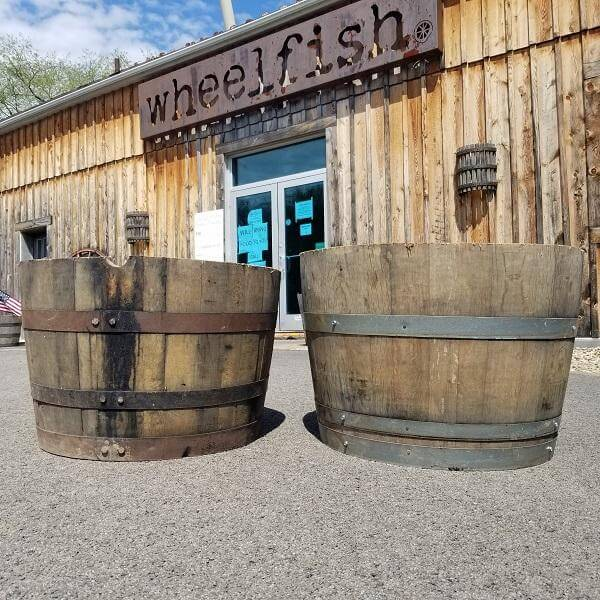 Whiskey and Wine Barrel Planters