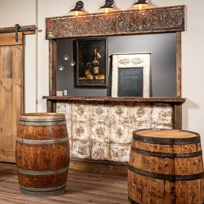 Refurbished Whiskey and Wine Barrels
