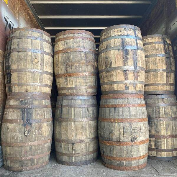 Authentic Bourbon Whiskey Barrels (53 Gallons, Used)