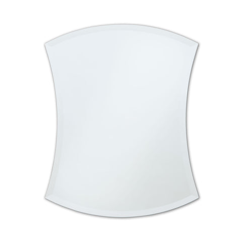 Better Bevel Frameless Beveled Concave Hourglass Mirror on white wall