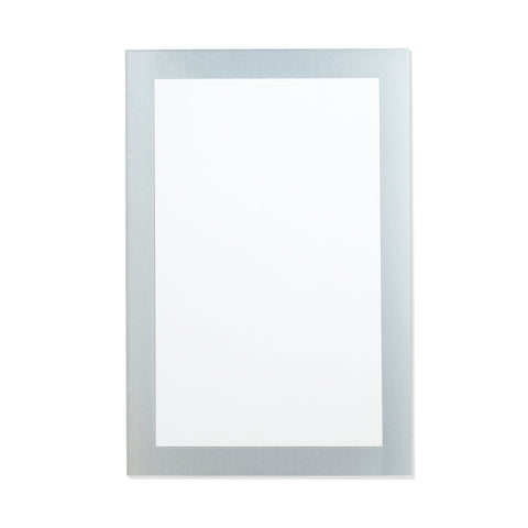 Better Bevel Frameless Frosted Border Rectangle Mirror on white wall