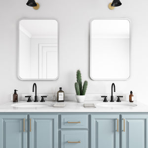 Grey Rubber Framed Rectangle Mirror