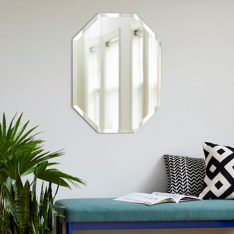 Frameless Beveled Octagon Mirror