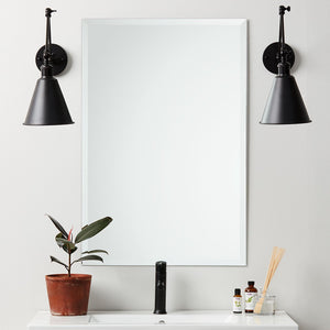 Frameless Beveled Rectangle Mirror