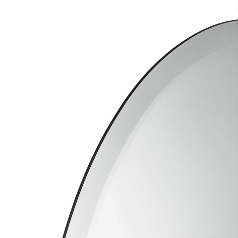Frameless Beveled Round Wall-Mounted Vanity Mirror