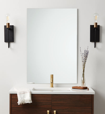 Frameless Polished Edge Rectangle Mirror