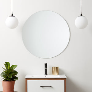 Frameless Polished Edge Round Mirror
