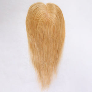 Blonde-Full-Silk-Base-Virgin-Brazilian-Human-Hair-Women's-Hair-Toppers