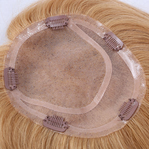 Mono-Top-With-Silk-Base-Blonde-Human-Hair-Toppers