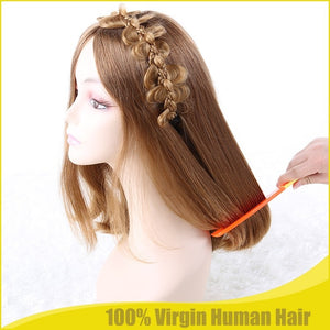 Certificated European Remy Hair Jewish Kosher Wig For Women Natural Light Brown