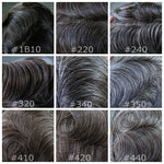 100% Human Hair Wigs For Men Full Ultra Thin Skin Hair Replacement Systems Mens Hair Pieces For Sale