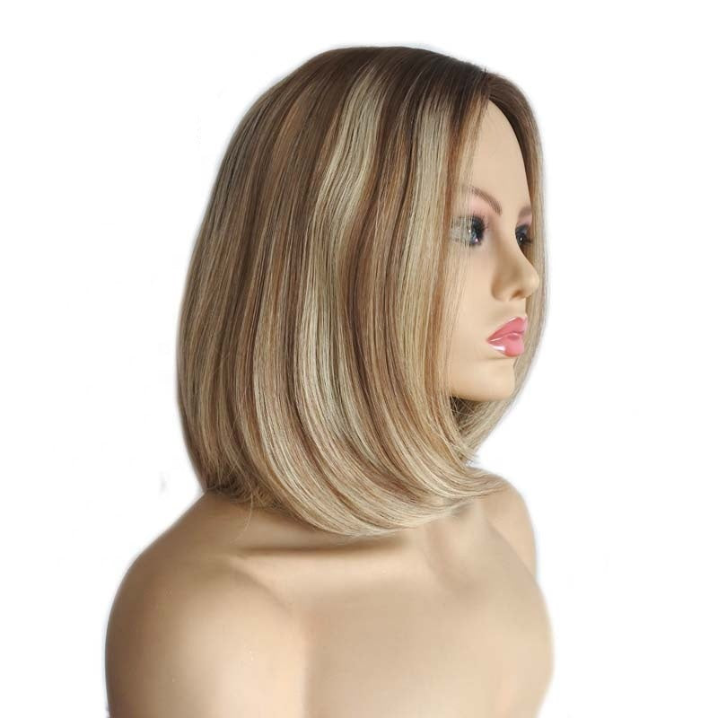 Best-Women's-European-Human-Hair-Wigs-Blonde-Highlights-High-Quality-Wigs-For-White-Women