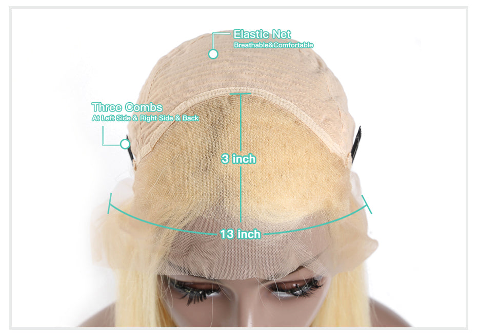613 Honey Blonde Preplucked Brazilian Virgin Remy Hair Wigs Glueless Lace Front Human Hair Wigs Body Wave