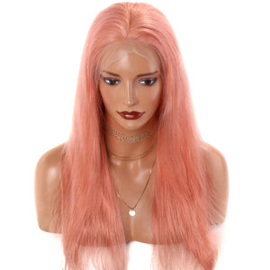 Light Pink-Lace-Front-Human-Hair-Wigs-For-Black-Women