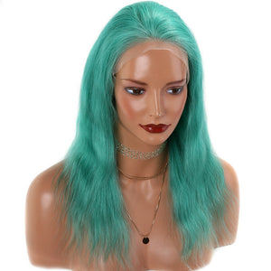 Green-Colored-Lace-Front-Human-Hair-Wigs