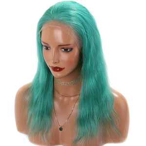 Lime-Green-Colored-Lace-Front-Human-Hair-Wigs