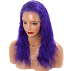 Purple-Brazilian-Straight-Lace-Front-Human-Hair-Wig-For-Black-Women