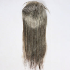 Gray-Colored-Virgin-Human-Hair-Wig-Toppers-Hair-Pieces
