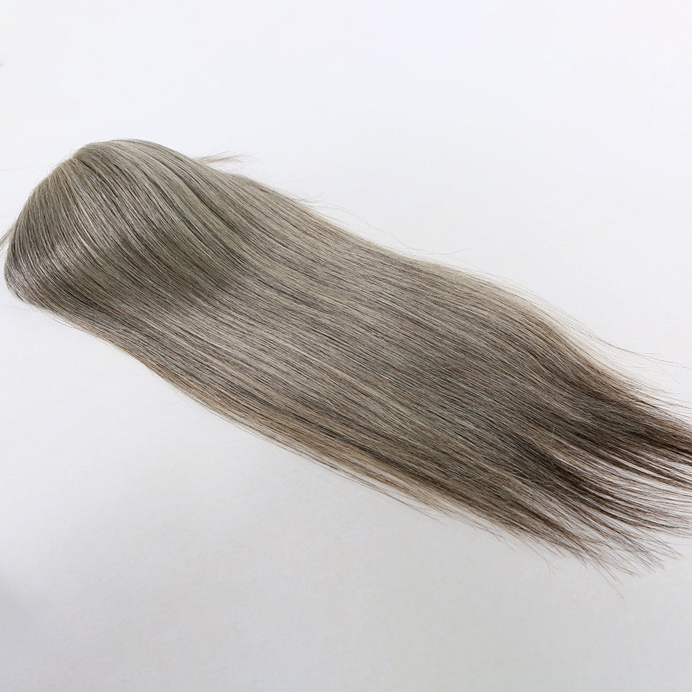 Gray-Colored-Virgin-Human-Hair-Wig-Toppers-Hair-Pieces-For-Old-Aged-Women