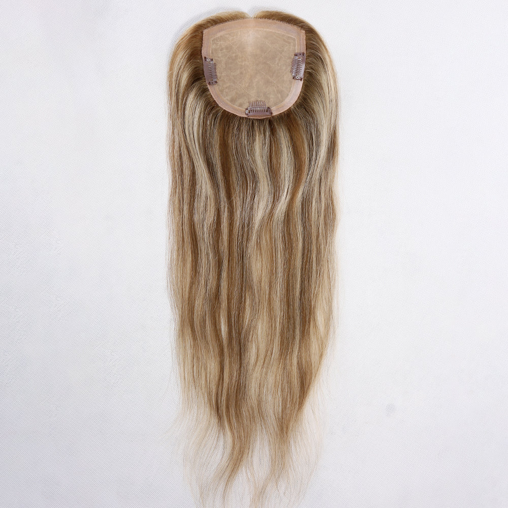 Full-Silk-Top-Human-Hair-Topper-For-Black-Women