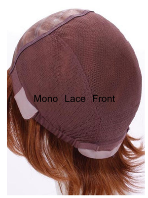 Custom Made Blonde Human Hair Wigs For Cancer Patients Silk Base With Silicone Strips Cap For White Women